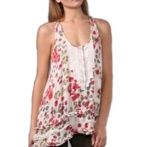 NWOT Free People Floral Racerback Tunic